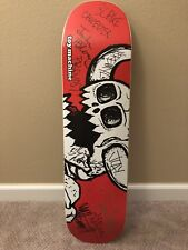 Signed Toy Machine Skateboard Deck By Pro Team Riders