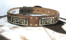 3D Children's Western Leather Belt Tan with Brindle Hair  Longhorn concho Sz26