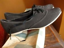 NEW NIB DS Vtg 50s Black Canvas Classic Sneaker Shoes Women 6N 6 N MADE IN USA