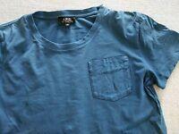 APC A.P.C. blue pocket tee tshirt small XS
