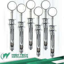 6 German Dental Anesthetic Syringes Self Aspirating 18ml Cartridge Auto Passive