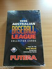 1996 Futera Australian Baseball Leaguel Factory Sealed Box ( 40 packs )