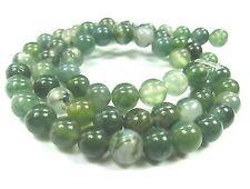 Moosachat 6mm grün Perlen rund Schmuckperlen Edelstein 1 Strang