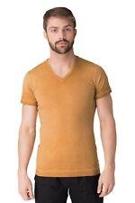 New DIESEL BLACK GOLD Men's TAICIY-115 Garment Dye V-Neck T-Shirt Top Size S