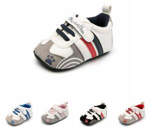 So Cute Gift Newborn Baby Boy Girl Pram Shoes Infant PreWalker Trainers Sneakers