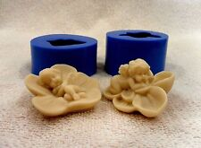 """""""Angels on flowers"""" 2-molds-lot silicone mold for soap and candles making mould"""
