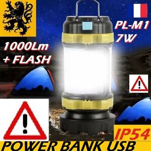LAMPE TORCHE LED LANTERNE PL-M1 RECHARGEABLE 7W 1000Lm BALISE GYROPHARE CHARGEUR