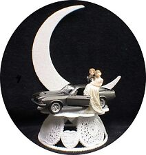 Ford Shelby Mustang  MECHANIC WEDDING groom CAKE top TOPPER Racing Mussel Car