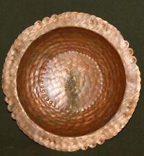 Vintage hand made copper pedestal bowl
