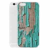 Retro Wood Pattern Phone Case TPU Slim Shockproof Cover for iPhone 7 Plus Huawei