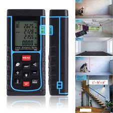 100m/328ft Digital Laser Distance Meter Range Finder Measure Tape Diastimeter