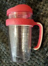 Tervis Tumbler 16oz with Slip On pink Handle and Lid