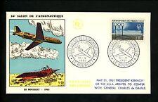 Postal History France Scott #986 Le Bourget Air Show JFK de Gaulle 5/31/1961