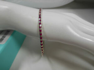 Tiffany & Co. Picasso Venezia Palina Purple Enamel Sterling Silver Bracelet