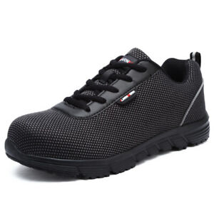 Mens Steel Toe Safety Shoes Anti-Static Lightweight Work Soft Footwear Shoes