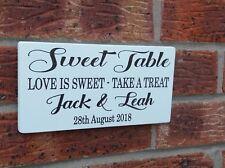 Shabby Vintage Chic Mariage Sucré Table Candy Bar signe autoportante Plaque