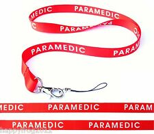 PARAMEDIC Quality satin lanyard, neck strap ideal for mobile id keys mp3 Usb