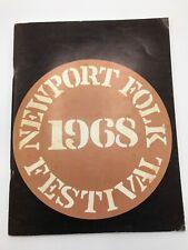 Newport Folk Festival 1968 Program Good condition, Rare