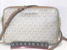 34781a06ece0 Michael Kors Metallic Signature East West Crossbody Bag Acorn & Gold NWT  $168
