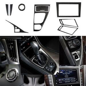 For Infiniti Q50 Q60 Soft Carbon Fiber Interior Accessories Whole Kit Cover Trim