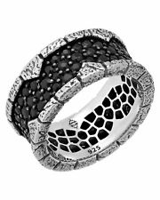 Stephen Webster Highwayman Men's pave sapphire brickwork in silver ring size 10