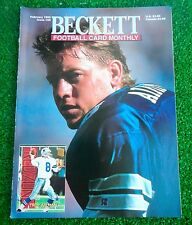 TROY AIKMAN COVER 1995 BECKETT Football Magazine #59 - JEFF BLAKE BACK COVER