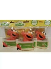 New Playskool Hasbro Sesame Street Friends LOT of 3 Figures Elmo Cake Toppers A3