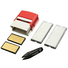 6x Self Inking Rubber Stamps Set Custom Business Name Address DIY Letters Number