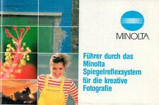 """""""Führer durch das Minolta Spiegelreflexsystem für die kr. Photographie"""" - B2129"""