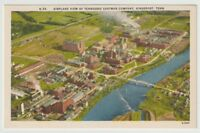 Unused Postcard Airplane View of Tennessee Eastman Company Kingsport TN