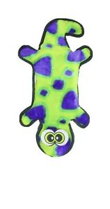 OUTWARD HOUND - Invincibles Geckos Dog Toy Yellow/Green/purple  - 4 Squeakers