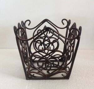 40400 Southern Living ROSEDALE PLANT HOLDER Decorative Wire Basket ~SMALL ONLY~