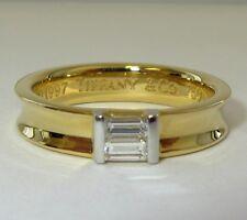 TIFFANY & Co. 18K Yellow Gold Diamond Stacking Ring 4.5