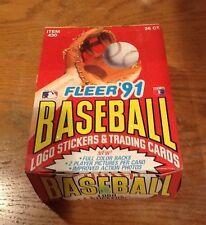 1991 Fleer Baseball Cards Unopened Box