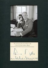 Under Secretary Of State Sumner Welles autograph, signed card mounted