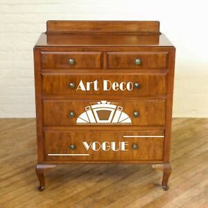3x ART DECO  STYLE FURNITURE STICKERS/ CHEST OF DRAWERS STICKERS, STENCILS