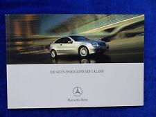 Mercedes-Benz Sportcoupes der C-Klasse - CL203 - Prospekt Brochure 08.2001
