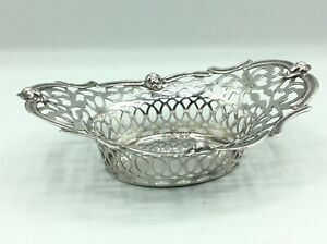 Fantastic Antique Collectible Silver Plated Pierced Dish With Head Intaglios