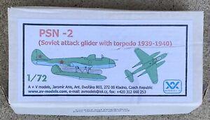 PSN-2 Commie Torpedo Bomber Glider, A&V MODELS Resin, 1/72