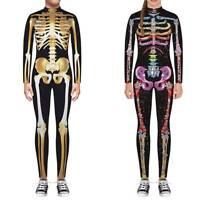 3D Skelett Kostüm Madchen Jungen Halloween Fasching Karneval Jumpsuit Overall