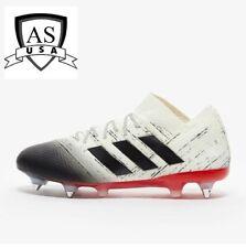 Adidas Men's Nemeziz 18.1 Sg D98014 Soccer Cleats Size 12.5 Black/White/ Red