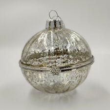 "Christmas Ornament ""Casket Ball-Box Silver"" vintage Decoration"