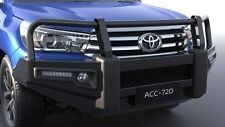 GENUINE TOYOTA HILUX SR5 JUL15> PREMIUM STEEL BULLBAR FOG LAMP WINCH COMPATIBLE
