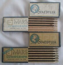 Two Vintage Boxes, Staedtler, Mars Lumograph Drawing Leads No 1904