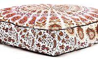 """Indisch Mandala 35 """" Welpe Warm Bett Haus Nest Matte Pad Square Weich Cotton"""
