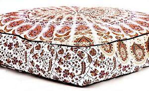 "Indian Mandala 35"" Puppy Warm Bed House Nest Mat Pad Square Soft Cotton Pet Dog"