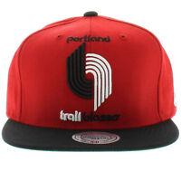 Portland Trail Blazers Mitchell & Ness STA3 XL Logo Red Snapback Hat Cap NBA
