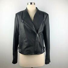 055a405f26 NWT Theory Womens Black Leather Jacket New Ford Phelan Moto Biker Medium  $995