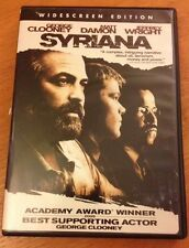 ☀️ Syriana DVD Widescreen George Clooney Matt Damon English French Audio MINT R1