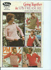 patons retro #423 going together in 5ply treasure crochet patterns jumpers vests